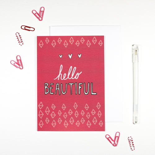 Hello Beautiful Card by Angela Chick