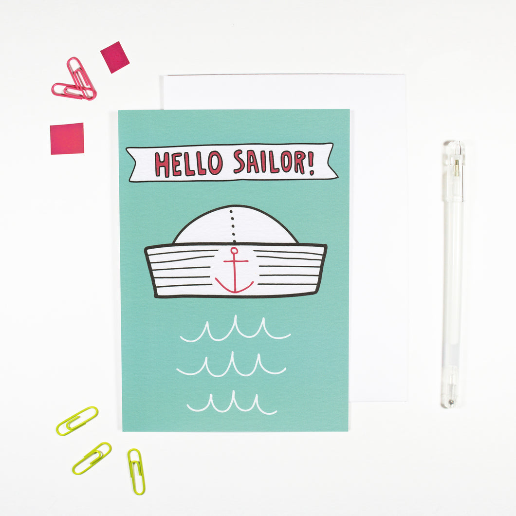 Hello Sailor Card for Sailors by Angela Chick