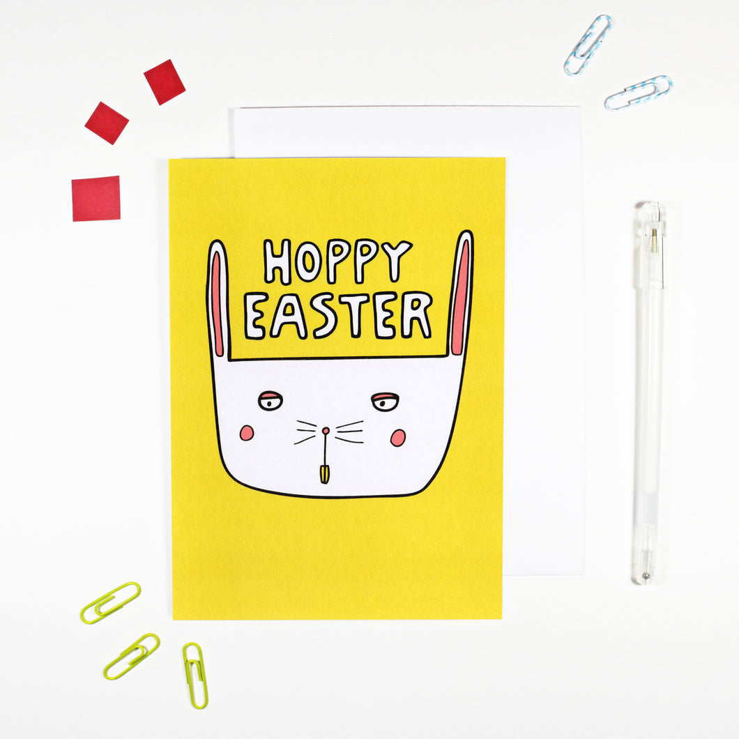 Hoppy Easter Bunny Card by Angela Chick