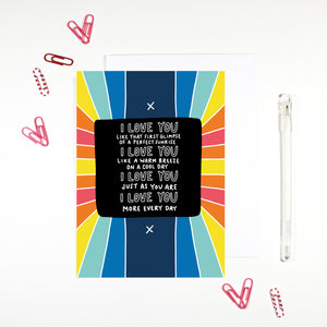 I Love You More Everyday Card