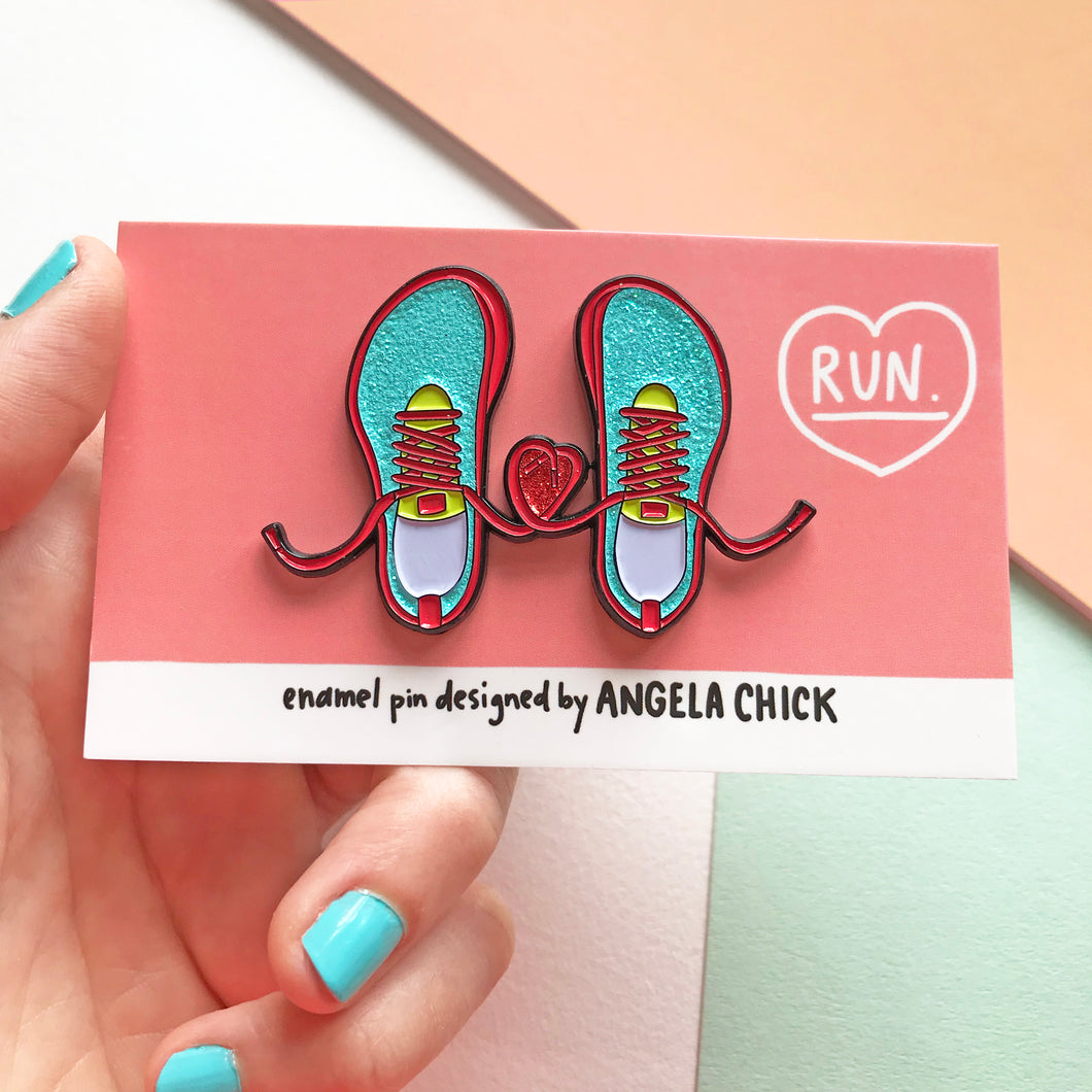 Running Pin for Runners by Angela Chick