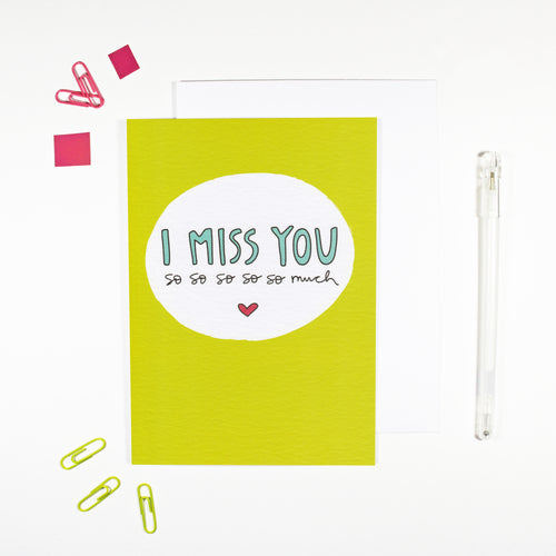 I Miss You Card by Angela Chick
