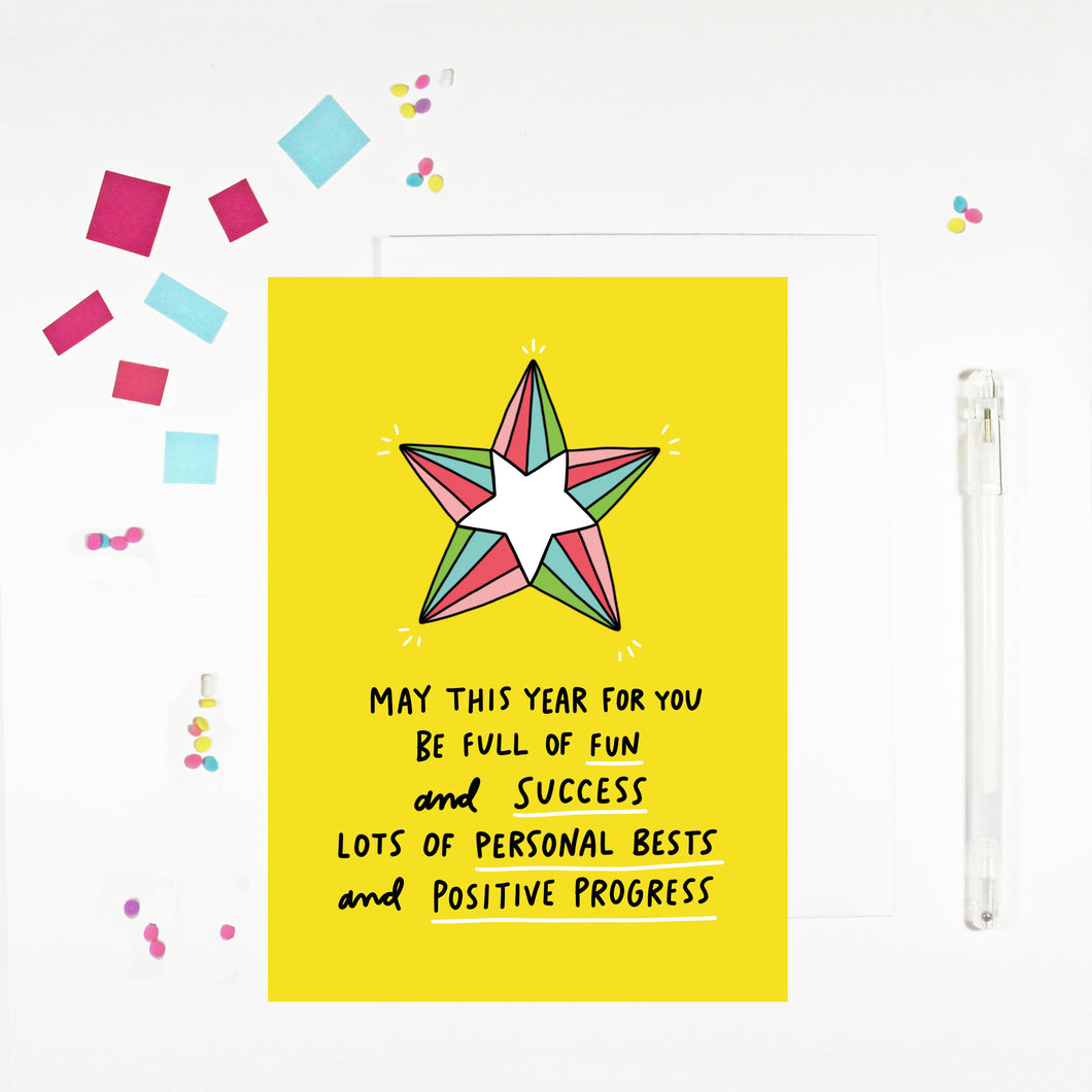 May This Year Be Full of Fun Birthday Card by Angela Chick