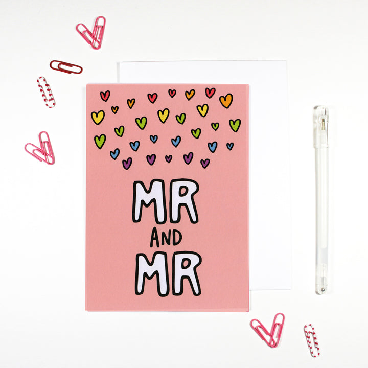Mr and Mr Gay Marriage Card by Angela Chick