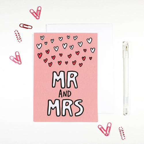 Mr and Mrs Newlywed Card by Angela Chick