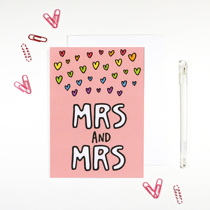 Mrs and Mrs Gay Marriage Card by Angela Chick