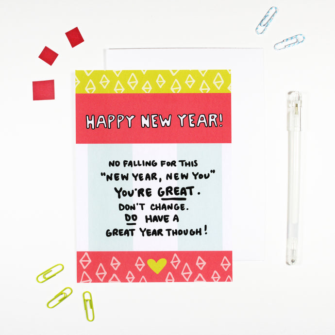 New Year New You Card by Angela Chick