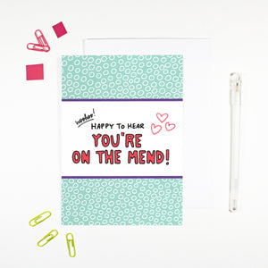 On the Mend Card for post surgery recovery illness by Angela Chick