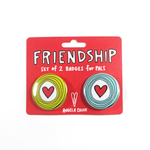 Friendship Badge Set of 2 by Angela Chick