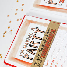 Peach Watercolour Party Invitation