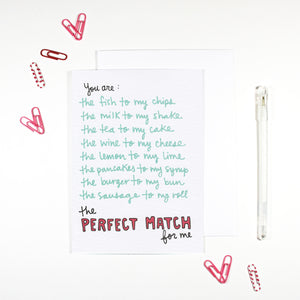 Perfect Match Card by Angela Chick