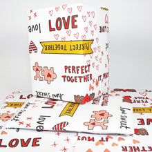 Perfect Together Romantic Gift Wrap by Angela Chick