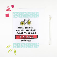 Roses Are Red Bike Ride Card for Cyclists by Angela Chick