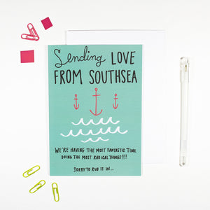 Sending Love From Southsea Card