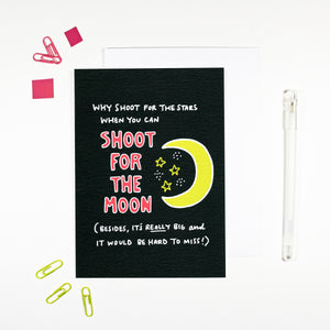 Shoot for the Moon Encouragement Card by Angela Chick