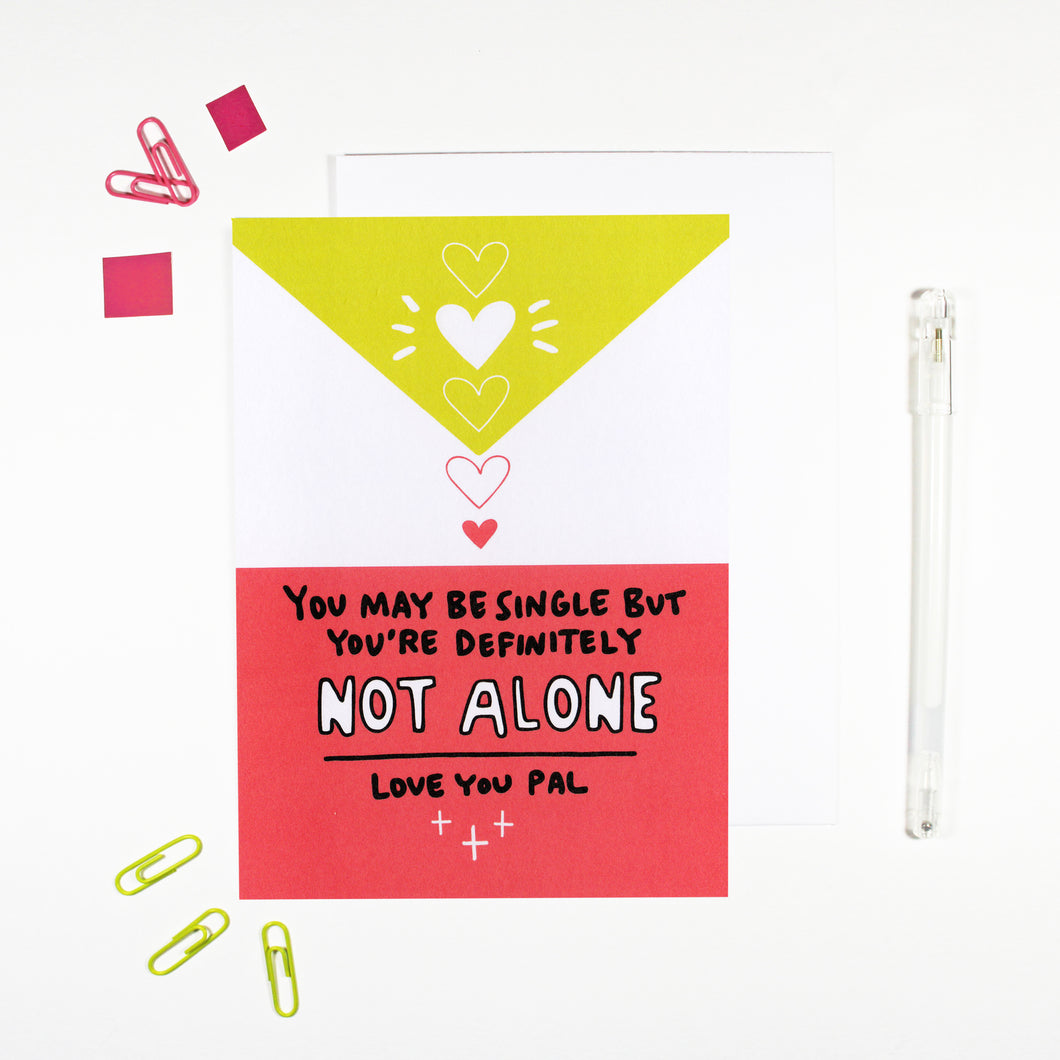Single Not Alone Card for Single Friend by Angela Chick