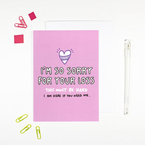 Sorry For Your Loss Sympathy Card by Angela Chick