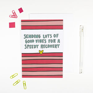 Speedy Recovery Card for Sending Good Vibes by Angela Chick