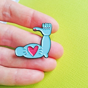 Stay Strong Encouragement Enamel Pin by Angela Chick