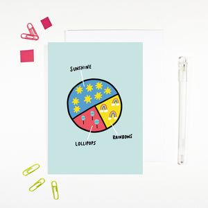 Sunshine, Lollipops and Rainbows Card by Angela Chick