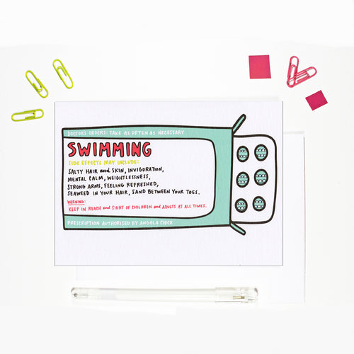 Wild Swimming Card for Wild Swimmers by Angela Chick
