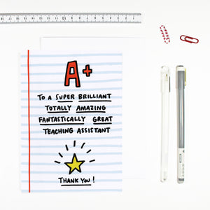 Teaching Assistant Card by Angela Chick