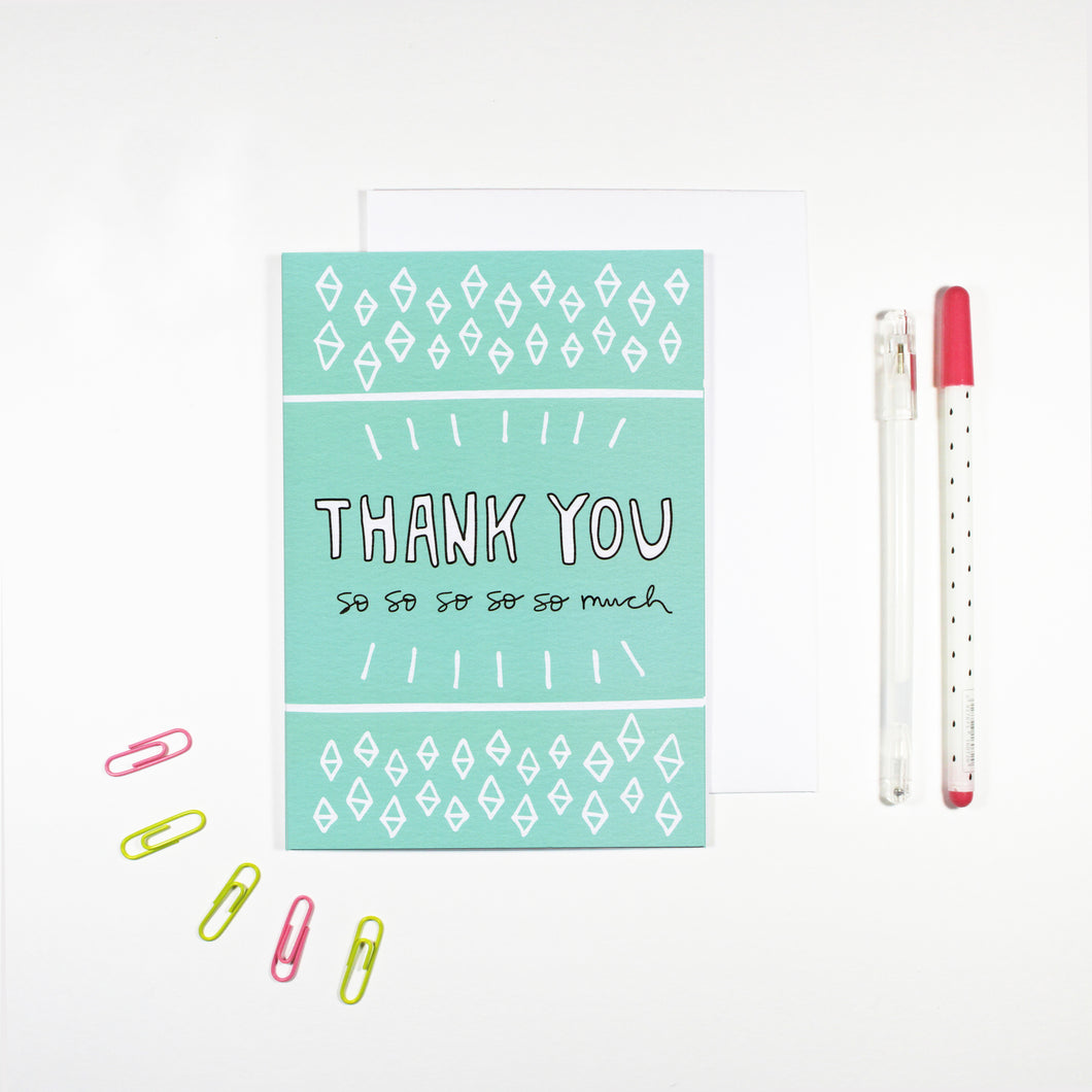Blue Thank You Card by Angela Chick