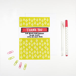 Thank You For Being Kind Card by Angela Chick