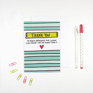 Thank You For Your Support Card by Angela Chick