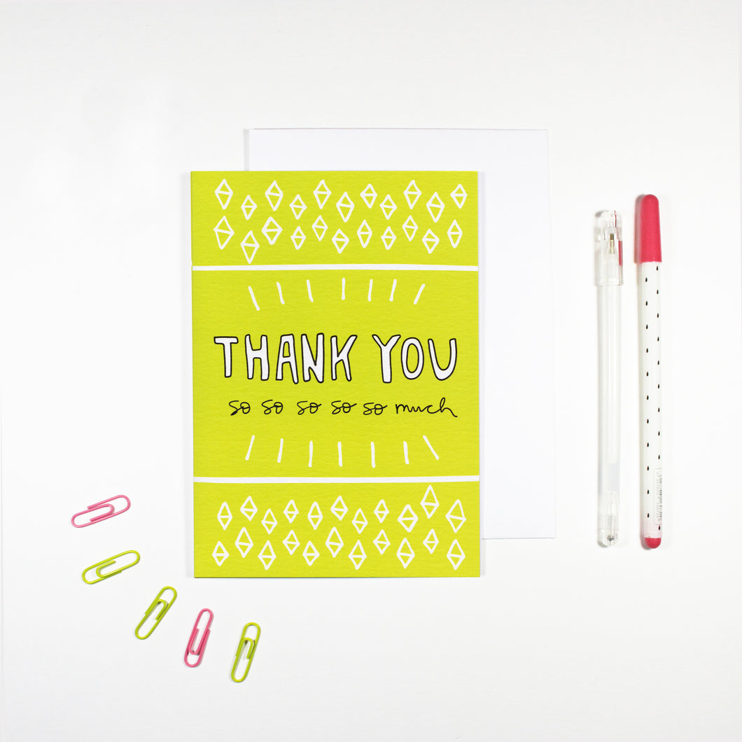 Green Thank You Card by Angela Chick