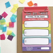 The Big Three Things To Do List Pad
