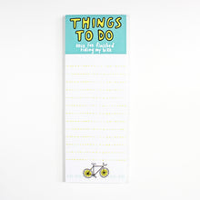 Things To Do Once I've Finished Riding My Bike Cyclist To Do List by Angela Chick