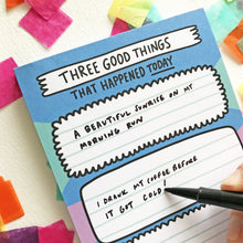 Three Good Things Gratitude Notepad by Angela Chick