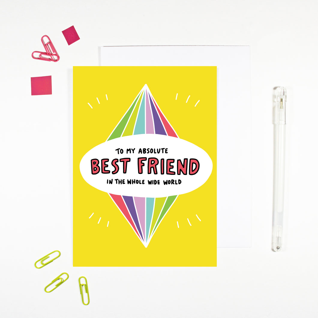 To My Best Friend Card by Angela Chick