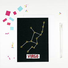 Virgo Star Sign Birthday Card by Angela Chick