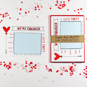 We're Engaged Engagement Party Invitation
