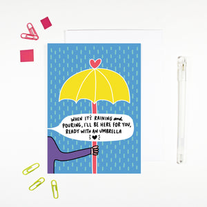 When It's Raining Card by Angela Chick
