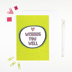 Wishing You Well Get Well Soon Card by Angela Chick