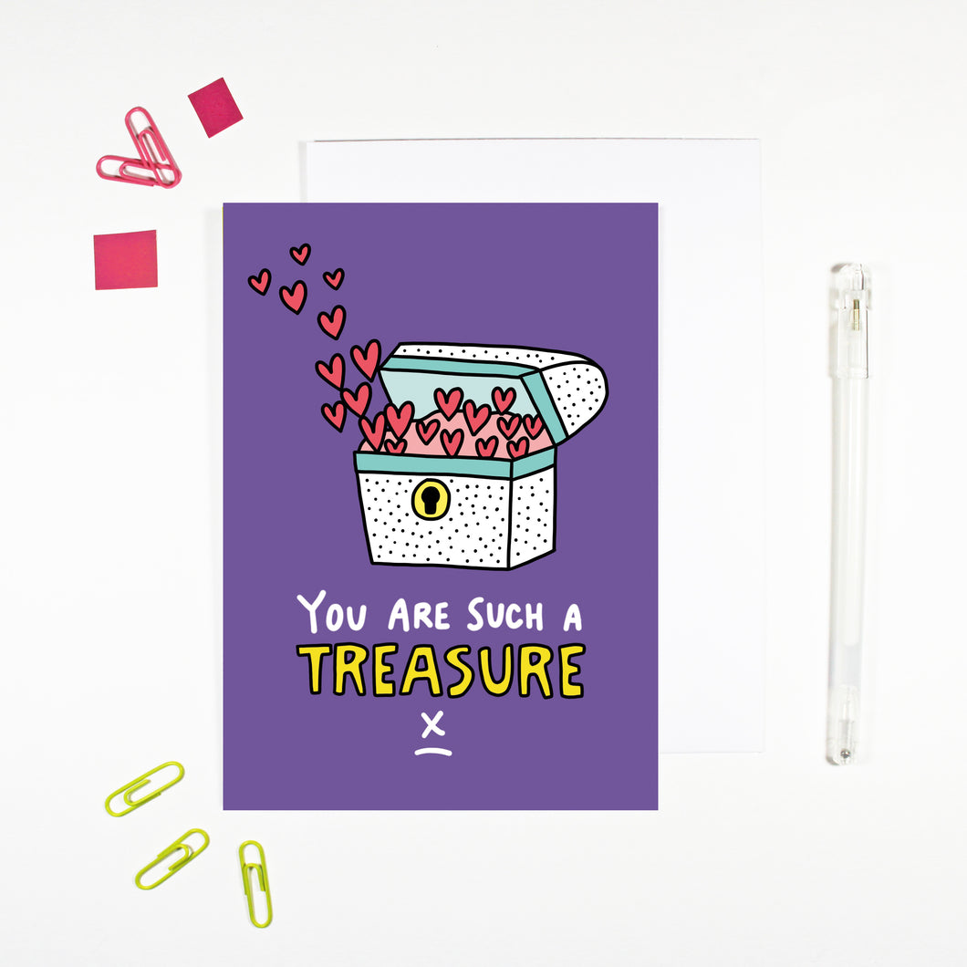 You Are Such A Treasure Card by Angela Chick