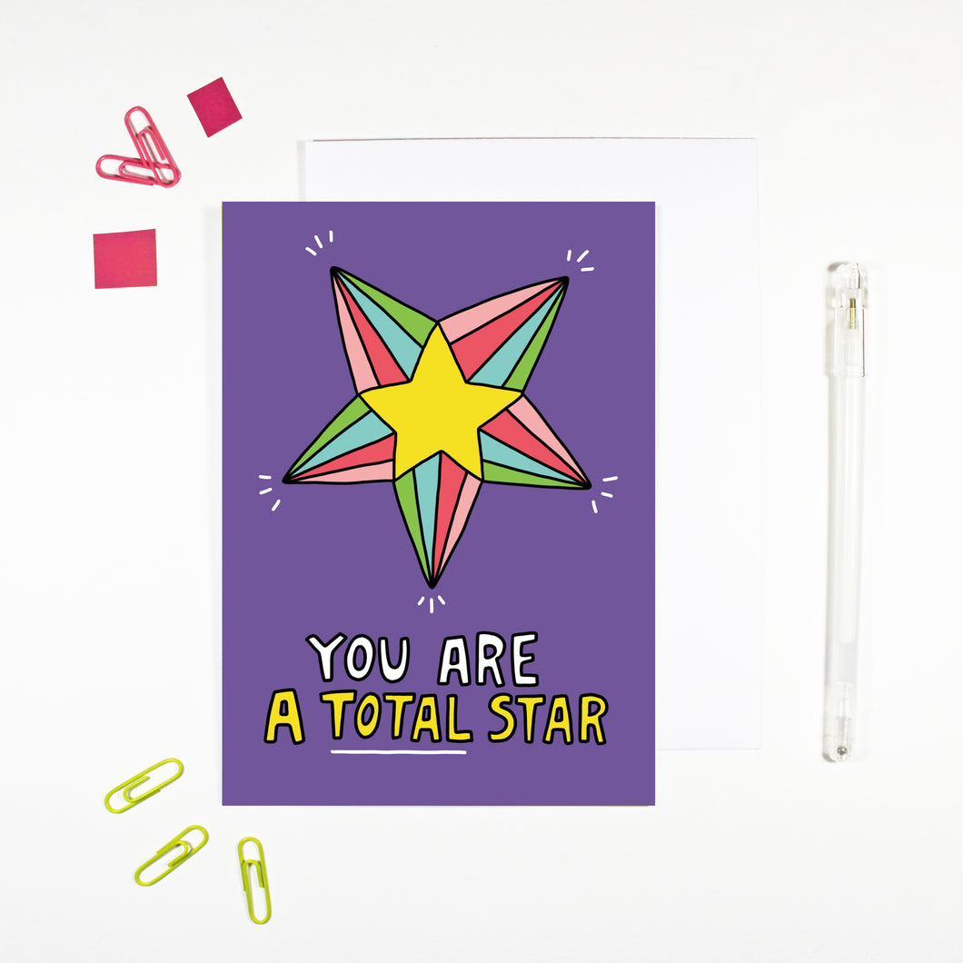 You Are A Total Star Card by Angela Chick