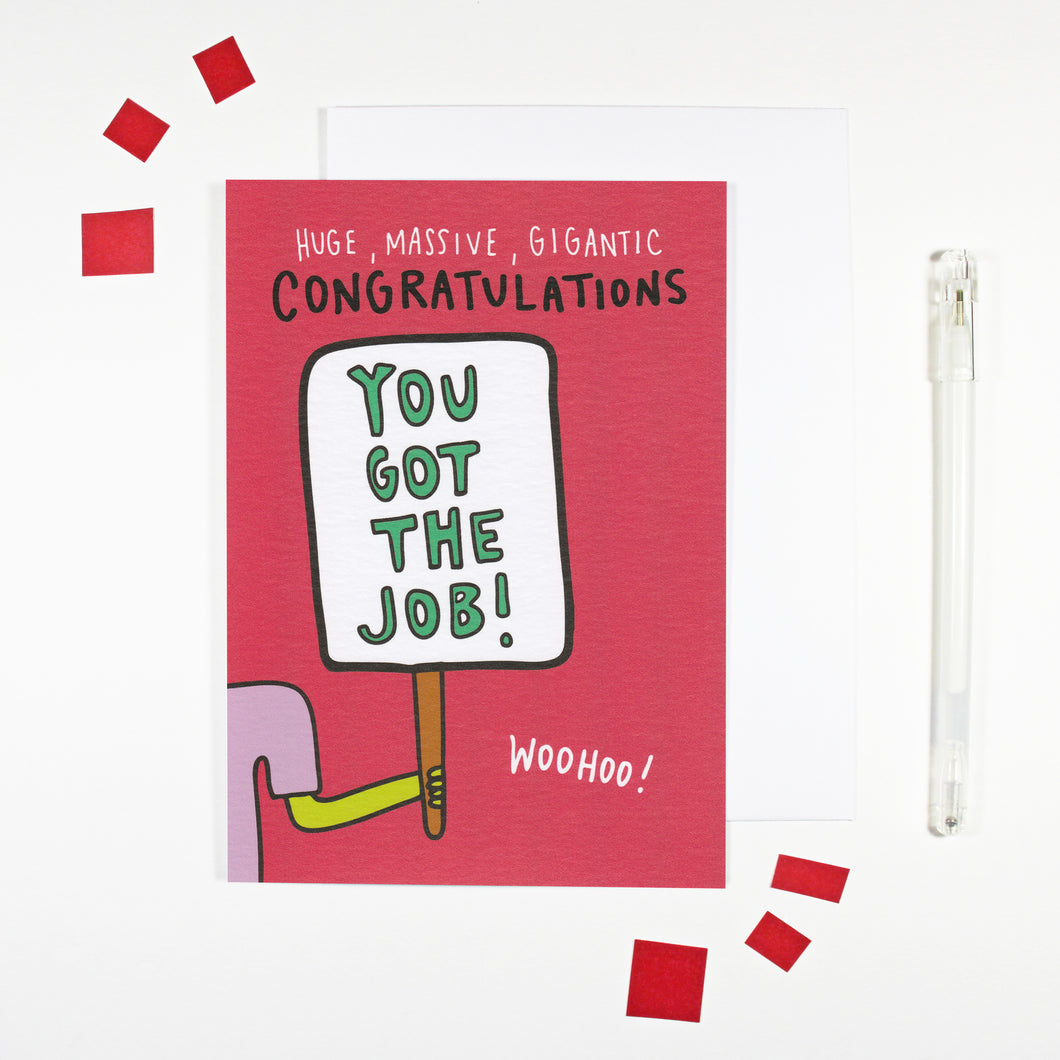 You Got The Job New Job Card by Angela Chick