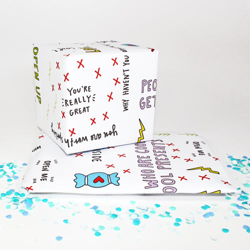 You're Rad Cool Gift Wrap for Friends by Angela Chick
