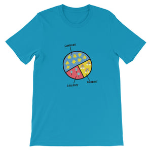 Sunshine, Lollipops and Rainbows Short-Sleeve Unisex T-Shirt