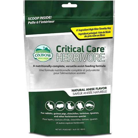 Green Bag of Oxbow Critical Care Herbivore Pet Food