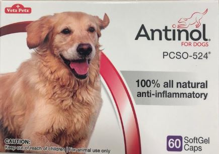 Antinol® for Dogs 60 soft gelcaps