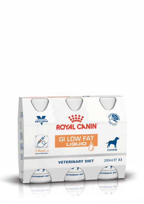 Royal Canin Canine GI Low Fat Liquid Cluster Packshot