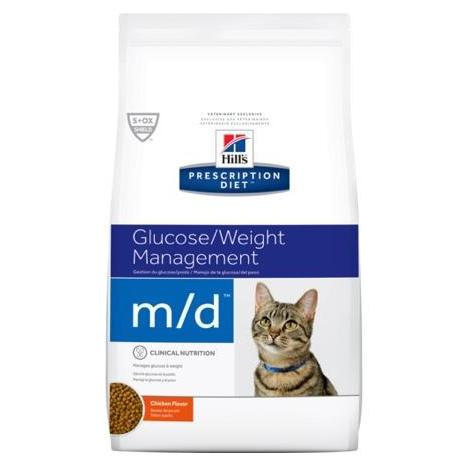 Pet Vet Clinic Singapore Buy Online - Hill's Prescription Diet m/d for Glucose and Weight Management in Overweight or Obese Cats