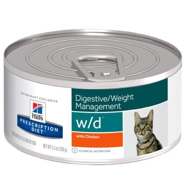 Pet Vet Clinic Singapore Buy Online - Hill's Prescription Diet w/d Wet Canned Food for Digestive and Weight Management in Overweight or Obese Cats
