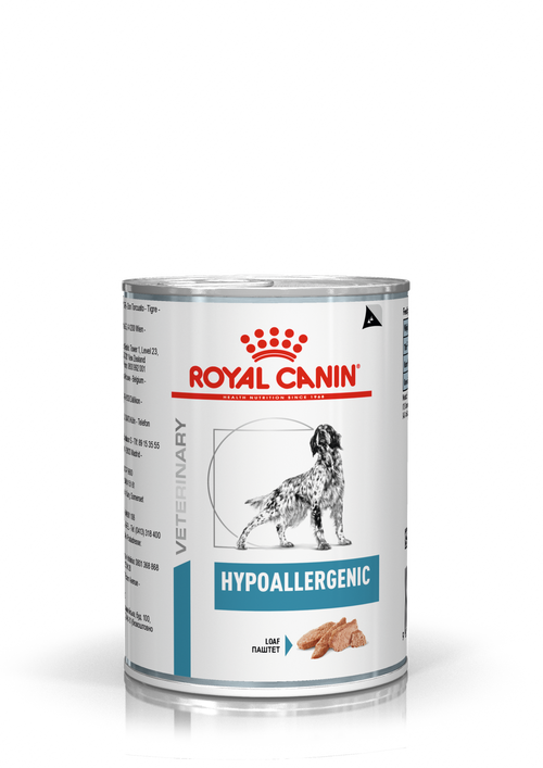 Royal Canin Dog Hypoanallergenic Loaf in Can (NEW DERMA RANGE)
