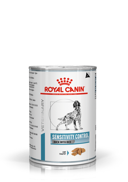 Royal Canin Dog Sensitivity Control Duck with Rice Loaf Can (NEW DERMA RANGE)
